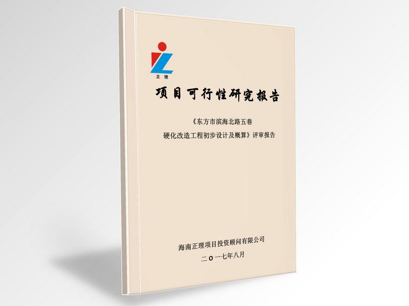 《东方市滨haibei路五巷ying化gai造工程初步设计及概算》评审报告